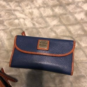 Dark Blue Dooney & Burke purse with wallet!